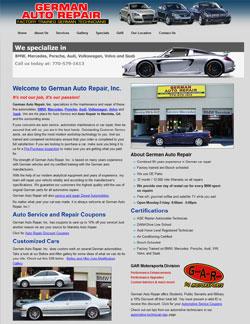 German Auto Repair Website
